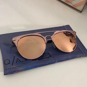 Quay X Chrisspy Gemini Rose Gold Sunglasses